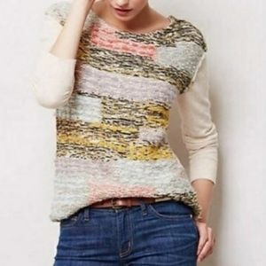 [Anthropologie] MOTH Nubby Colorblock Sweater